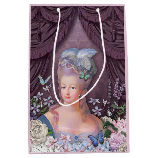 Marie Antoinette Purple Floral Medium Gift Bag