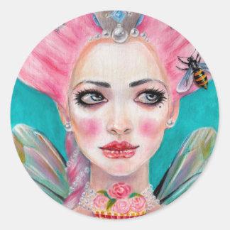 Marie Antoinette Queen Bee Classic Round Sticker