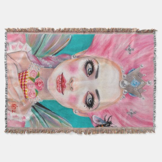 Marie Antoinette Queen Bee Let them eat cake Throw Blanket