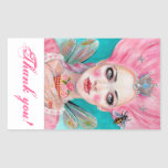 Marie Antoinette Queen Bee thank you stickers