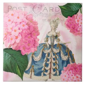 Marie Antoinette Redoute Hydrangea Ceramic Tile