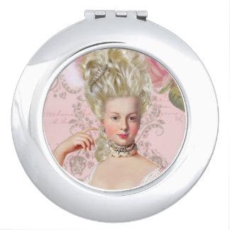 Marie Antoinette Rose Portrait Compact Mirror