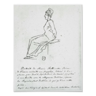 Marie-Antoinette s way to her execution Print