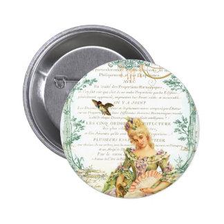 Marie Antoinette & Sparrow Pin