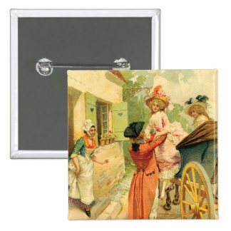 Marie Antoinette Style Vintage Art Design Pin