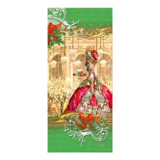 Marie Antoinette Tea Party Versailles Christmas Personalized Rack Card