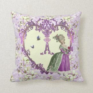Marie Antoinette Throw Pillow cushion Lilac