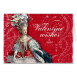 Marie Antoinette Valentine Flourishes Greeting Card