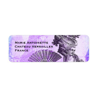 Marie Antoinette & Versailles Castle in Purple
