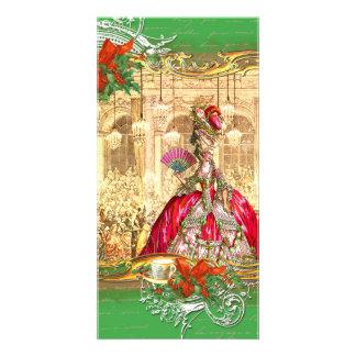 Marie Antoinette Versailles Christmas Tea Party Photo Cards