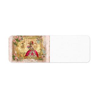Marie Antoinette Versailles Party in Pink Return Address Label