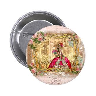 Marie Antoinette Versailles Party Pink Button
