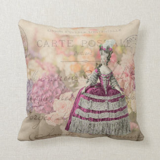 Marie Antoinette Vintage Throw Pillow