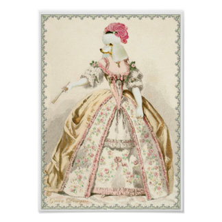Marie Antoinette White Poodle Costume Print