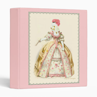 Marie Antoinette White Poodle in Costume Binder