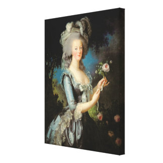 Marie Antoinette  with a Rose, 1783 Canvas Print