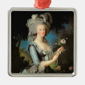 Marie Antoinette  with a Rose, 1783 Metal Ornament