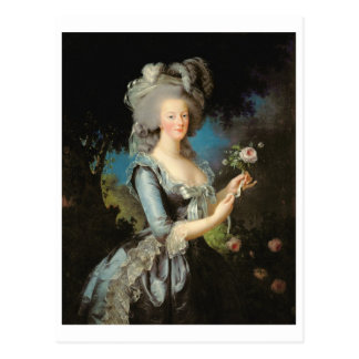 Marie Antoinette with a Rose, 1783 Postcard