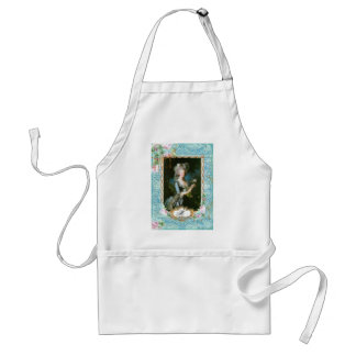 Marie Antoinette with Pink Roses and Lace Adult Apron