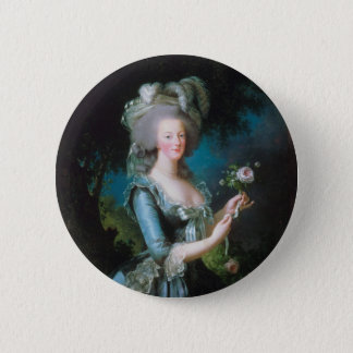 Marie Antoinette with the Rose by Elisabeth Lebrun 2 Inch Round Button