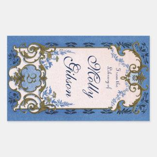 Marie Antoinette's Blue Bookplate Sticker