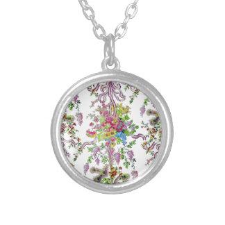 Marie Antoinette's Boudoir Round Pendant Necklace