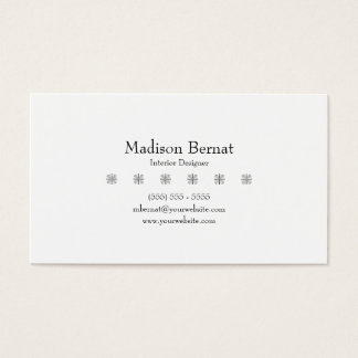 Marie - Black Business Card