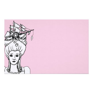 Marie by the Sea Whimsical Stationery in Pink