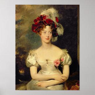 Marie-Caroline de Bourbon  Duchesse de Berry Poster