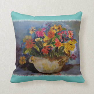 Marie Celeste's original floral art. Throw Pillow