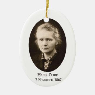 Marie Curie Ceramic Ornament