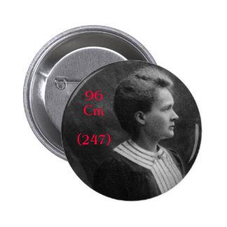 Marie Curie Curium 2 Inch Round Button