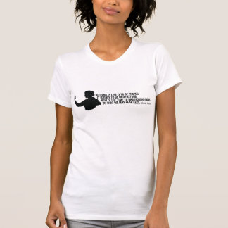 Marie Curie Quote - Womens Light T-Shirt