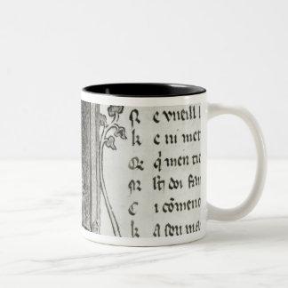 Marie de France  writing Two-Tone Coffee Mug