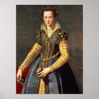 Marie de Medici , wife of Henri IV of France Poster