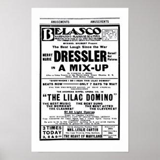 Marie Dressler 1915 vintage theater ad poster
