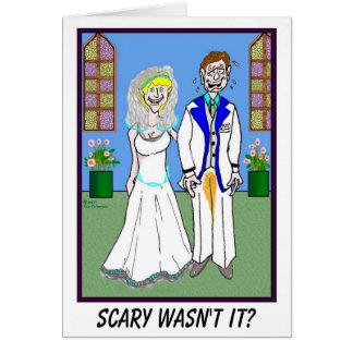 MARIÉ ET carte de mariage FAITE PIPI de PANTALON