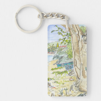Marie Galante Beach Key Chain