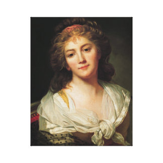 Marie-Geneviève Bouliard, Self-portrait Canvas Print