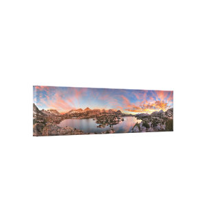 Marie Lake Sunrise Panorama - John Muir Trail Canvas Print