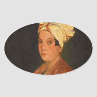 Marie Laveau: The Voodoo Queen Oval Sticker