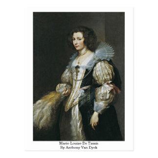 Marie-Louise De Tassis By Anthony Van Dyck Postcard