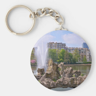 Marie-Louise square in Brussels, Belgium Basic Round Button Keychain