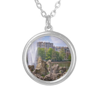 Marie-Louise square in Brussels, Belgium Silver Plated Necklace