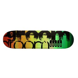 Marié ; Vert, orange vibrants, et jaune Plateaux De Skateboards Customisés