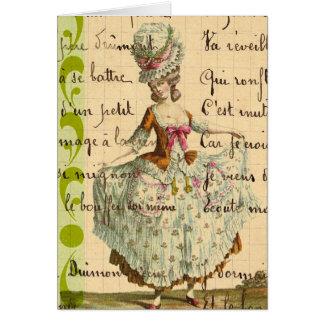 Marie, Vintage Lady Digital Art Card