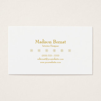 Marie - Yellow Goldenrod Business Card