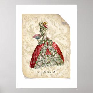 MarieAntoinette Manuscript Print