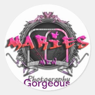 Maries World Wide Creation Marks and Graphic Art Round Sticker
