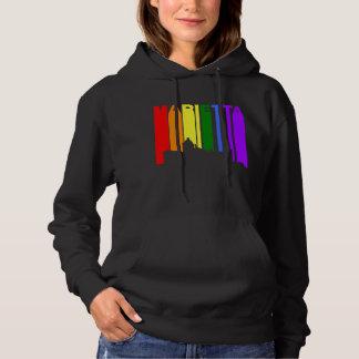 Marietta Georgia Gay Pride Rainbow Skyline Hoodie